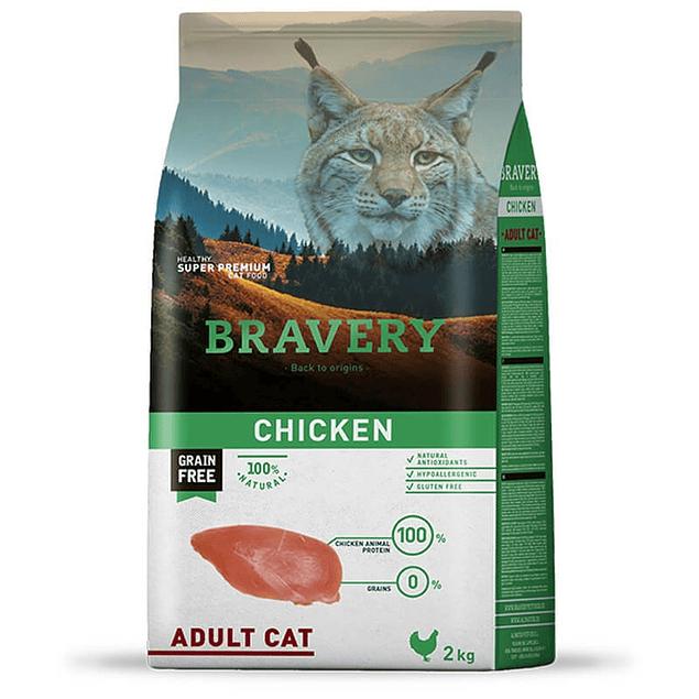 BRAVERY CHICKEN ADULT CAT 2KG