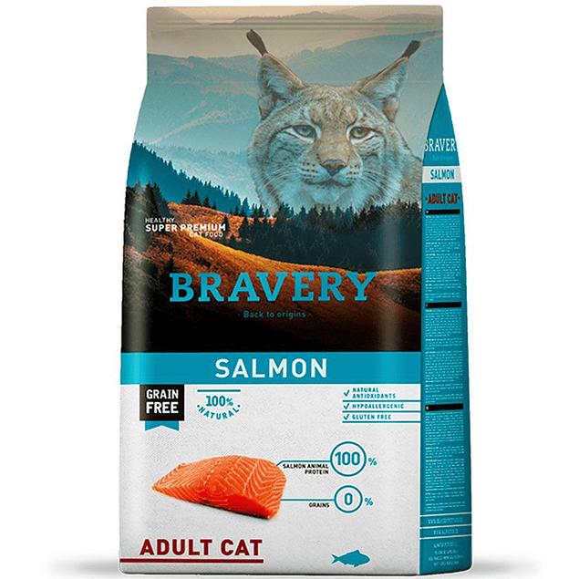 BRAVERY SALMÓN ADULT CAT 2KG