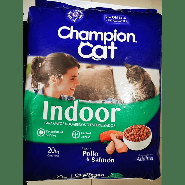 Champion Cat Indoor salmon y pollo 20kg