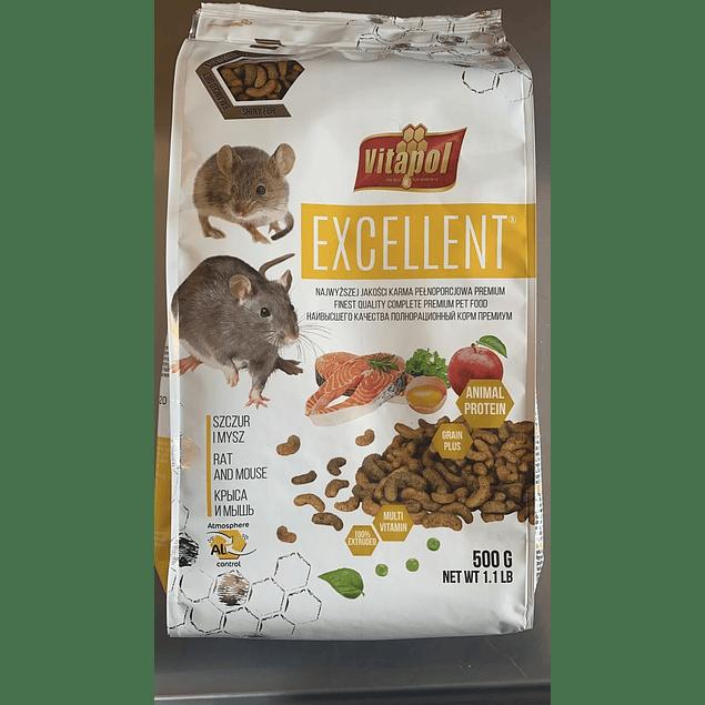 alimento para ratas y ratones 500gr vitapol