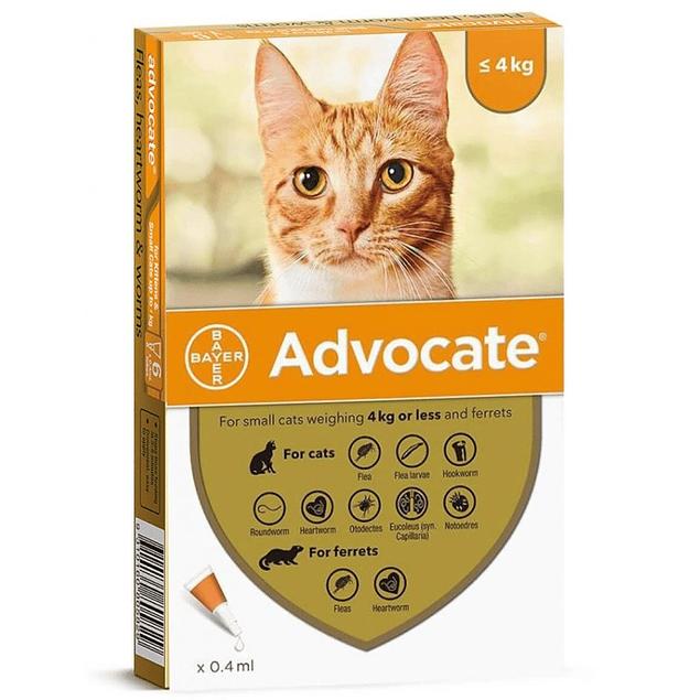 Advocate hasta 4 kg gatos
