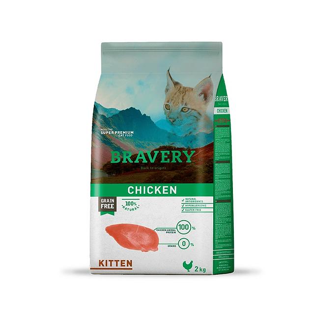 Bravery Chicken Kitten 2kg