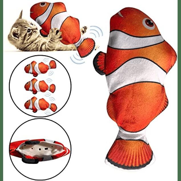 peluche pez con movimiento catnip