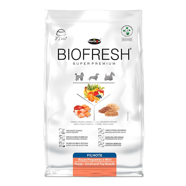 Biofresh Super premium Perros Cachorros Raza Pequeña 3kg