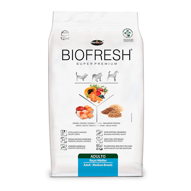Biofresh Super premium Perros Adultos Raza Mediana 12kg