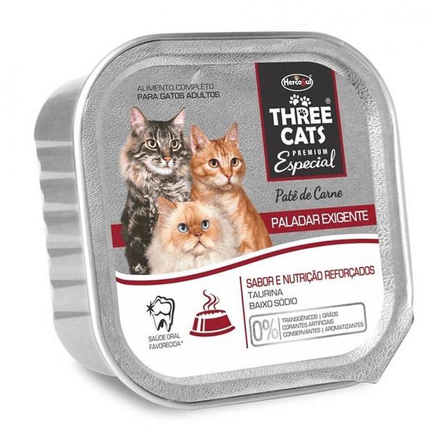 Three Cats Paté Paladar Exigente 90gr
