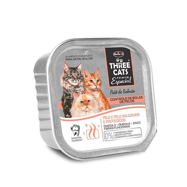 Three Cats Paté Bolas de pelos 90gr