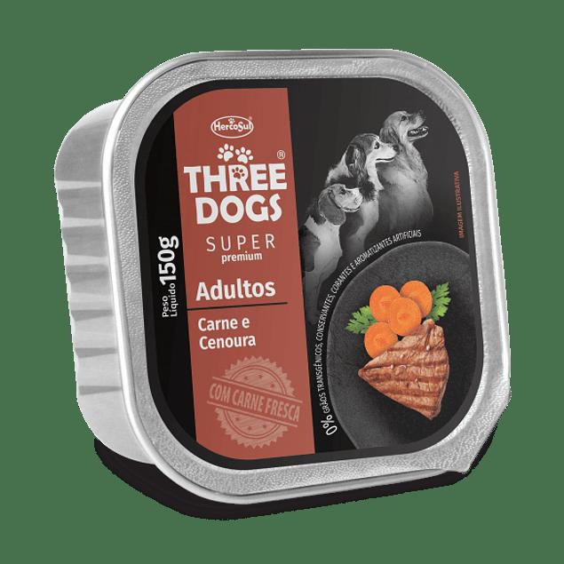 Three Dogs Paté Adulto Carne con Zanahorias 150gr
