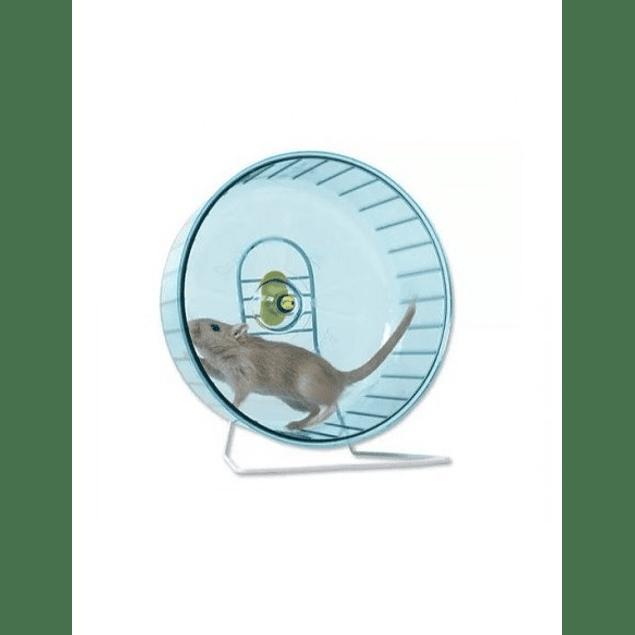 Rueda hamster con pedestal (15cm diametro / pequeña)