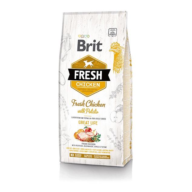Brit Fresh Chicken With Potato Adult 2,5kg