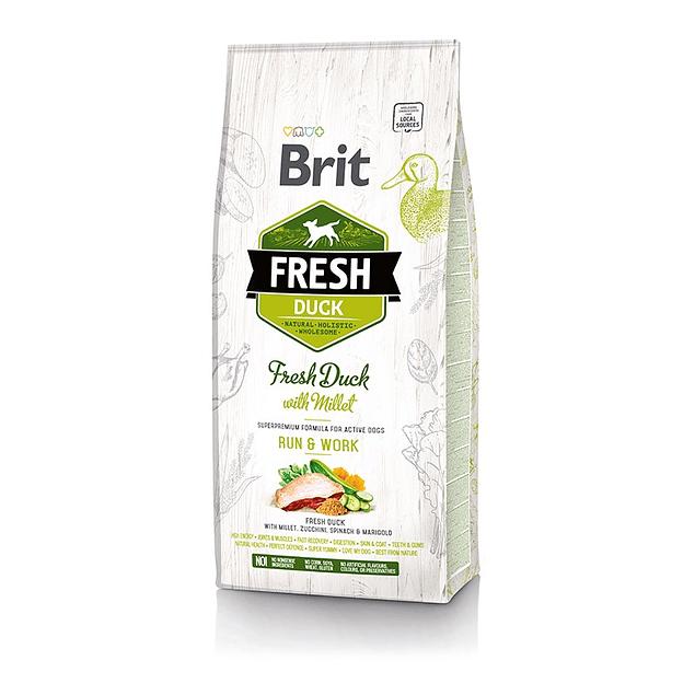 Brit Fresh Duck With Millet Active Run 12kg