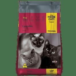 Three Cats Gatos Castrados Carne 3kg
