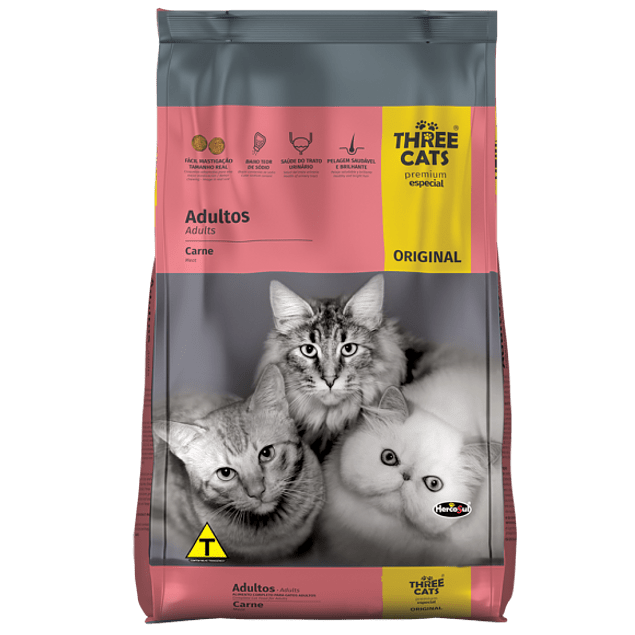 Three Cats Gatos Adultos Carne 10,1kg