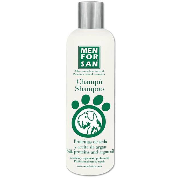 Menforsan Shampoo De Proteinas de Seda Y Aceite de Argan