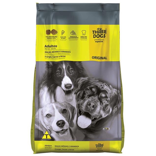 Three Dogs Adultos Razas Medianas y Grandes 10kg