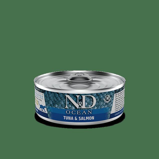 Lata N&D Cat Ocean Tuna Salmon 80Gr