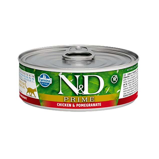 Lata N&D Cat Prime Chicken and Pomegranate 80Gr