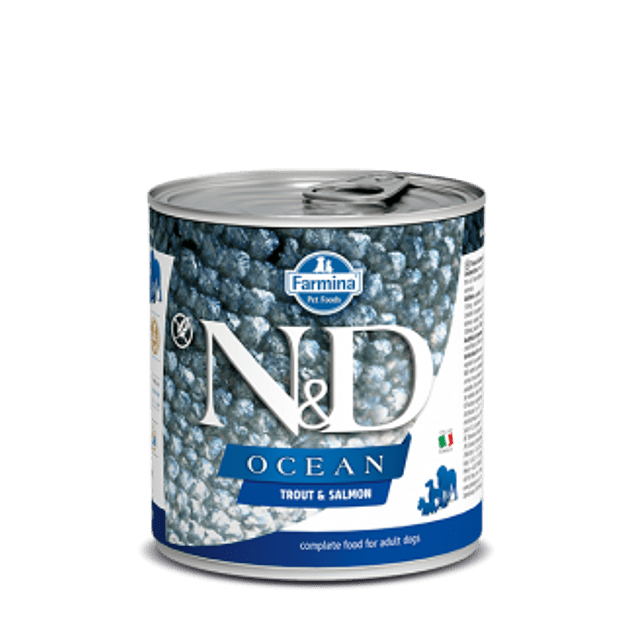 Lata N&D Dog Ocean Trout and Salmon 285Gr