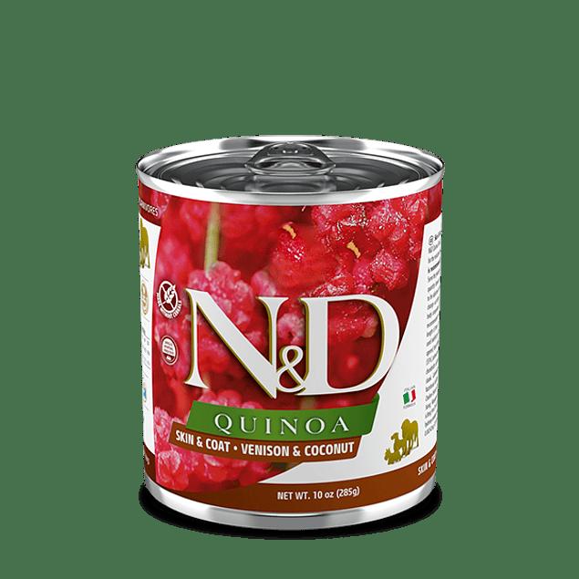 Lata N&D Dog Quinoa Venison and Coconut 285Gr