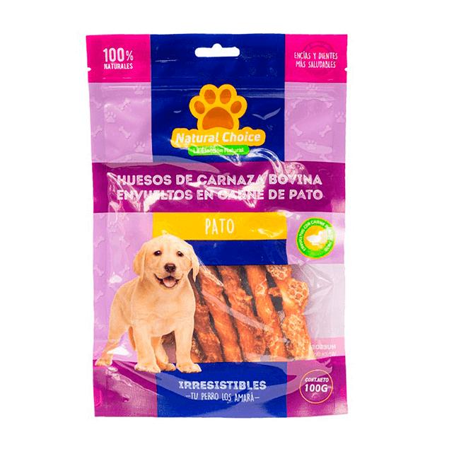 Huesitos de Carnaza Bovina Envueltos en Carne de Pato (Stick) (100g)