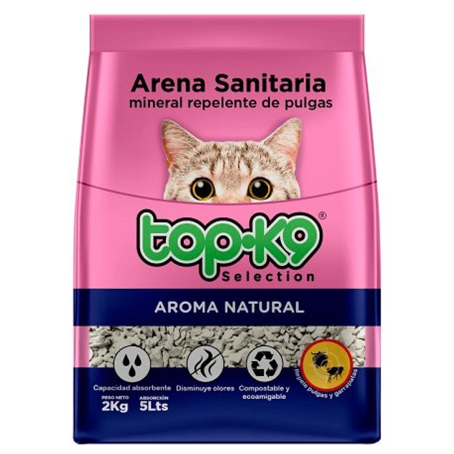 Arena Sanitaria Top-k9 Mineral Repelente de pulgas 2kg