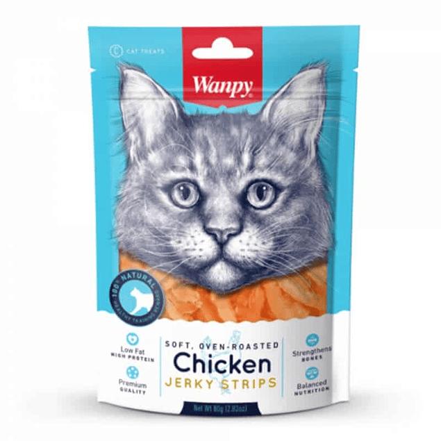 Wanpy Chicken Jerky Strips For Cats