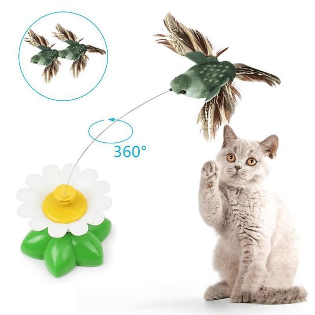 Juguete interactivo Pájaro giratorio para Gato