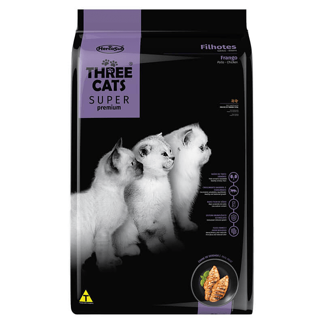 Three Cats Gatitos Pollo 3kg