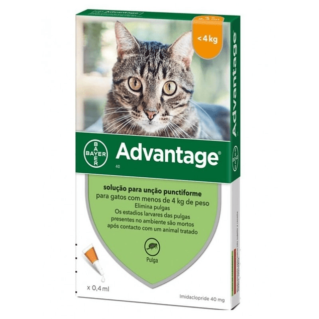 pipeta  Advantage Gatos (Hasta 4 kg)