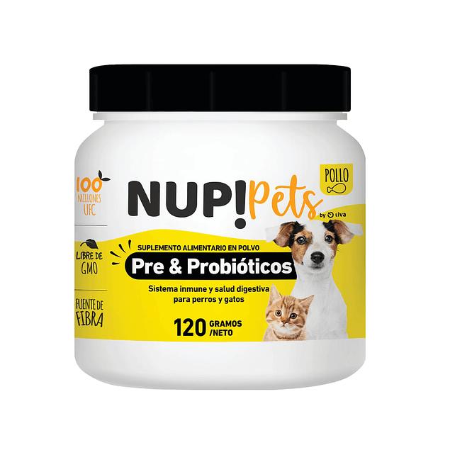 NUP! Pets Pre & Probióticos 120Grs Pollo 120Grs
