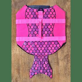 Chaleco Salvavidas Diseño Sirena talla L