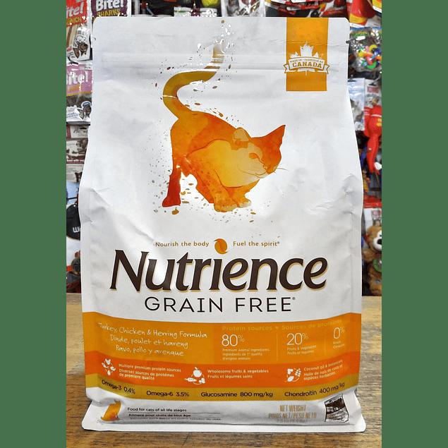 NUTRIENCE GRAIN FREE Pollo, Pavo y Arenque 2,5kg