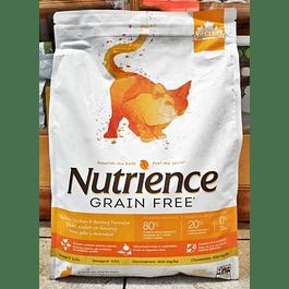 NUTRIENCE GRAIN FREE Pollo, Pavo y Arenque 5kg