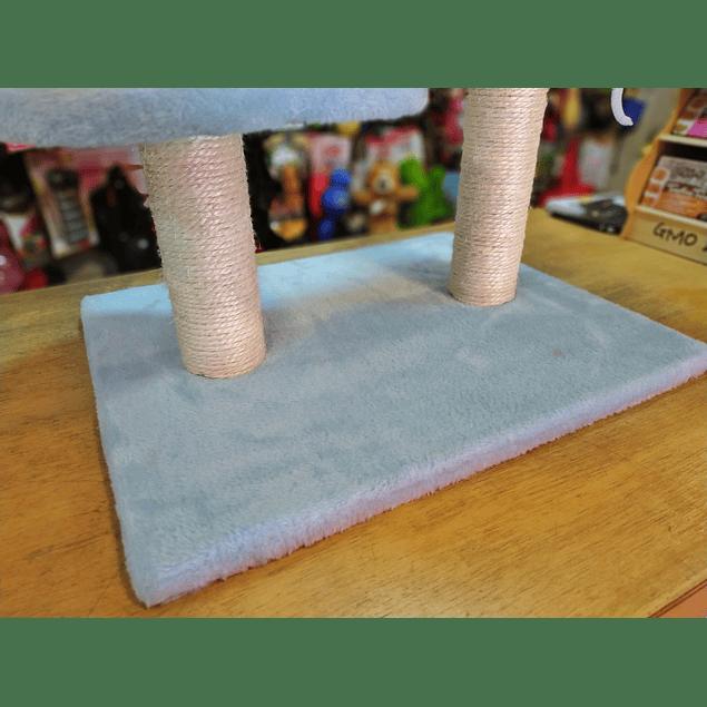 Rascador para Gato de Doble Base Mediano