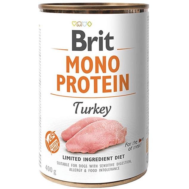 Lata Brit Care Mono Protein Pavo 400g para perro