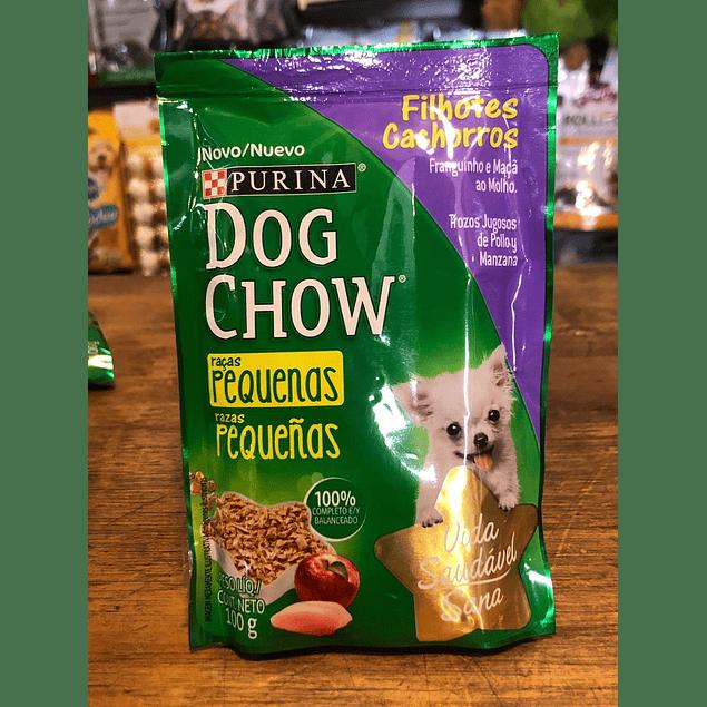 alimento humedo para perro cachorro razas pequeñas  dog chow 100gr