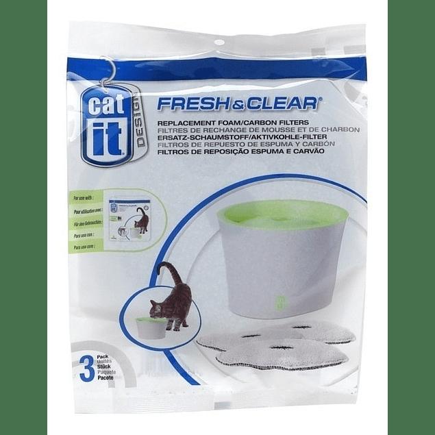 Filtro de agua catit pack 3