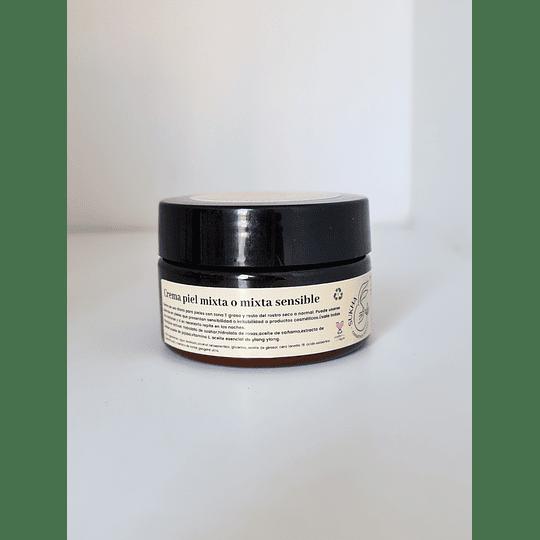 Crema de rostro piel mixta o mixta sensible