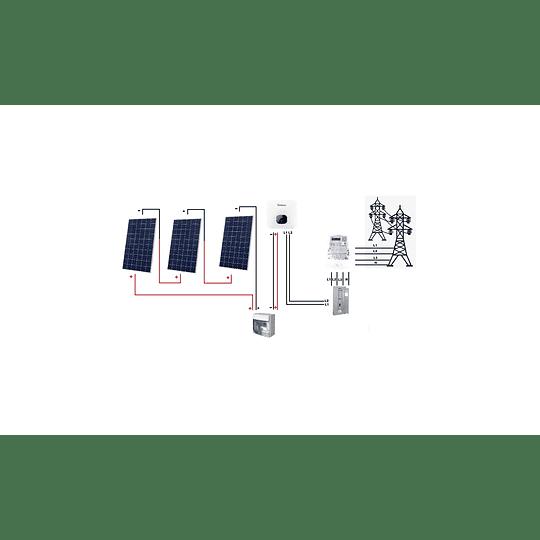 Kit On grid con EXCEDENTES de inyección a red 220VAC