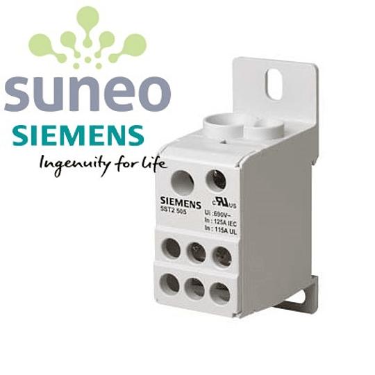 Bloque de distribución Siemens 80/125/160A 1000VAC/1500VDC