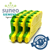 Borna de tierra verde-amarillo para riel DIN (Omega) 18-12 AWG Siemens