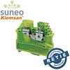 Borna de tierra verde-amarillo para riel DIN (Omega) 16-8 AWG Klemsan