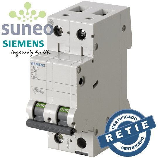 Breaker AC/DC Siemens 2 polos, 400VAC / 144VDC