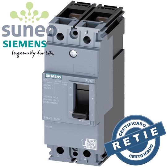 Breaker AC/DC Siemens 80/100/125A Bipolar 250VDC
