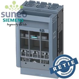 Base porta fusibles 160A  3 Polos 690VAC / 440VDC Siemens