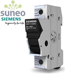 Base portafusible 10x38 mm 690VAC / 800VDC Siemens.