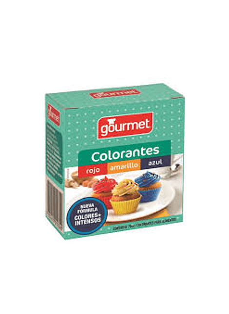 COLORANTES 3 COLORES GOURMET
