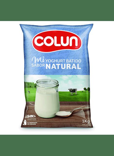 YOGHURT BATIDO NATURAL COLUN 1 KG
