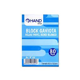 BLOCK GAVIOTA BLANCO HAND 80 HOJAS