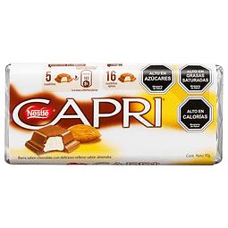 CHOCOLATE CAPRI ALMENDRAS 90 G